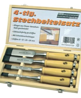 Brüder Mannesmann mejselsæt 4 dele 66104