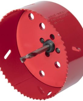 wolfcraft hulsav 112 mm bi-metal rød 5496000