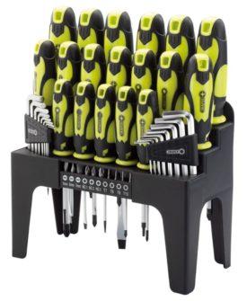 Draper Tools skruetrækker-, unbrakonøgle- og bitssæt 44 dele grøn 78619