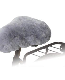 Willex sadelovertræk til cykel fåreskind grå 30135