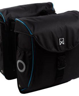 Willex 300 Flexi cykeltasker 24 l sort og blå