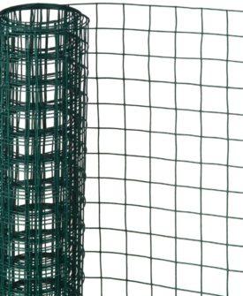 Nature firkantet trådnet 0,5 x 2,5 m 13 mm plastbelagt stål grøn