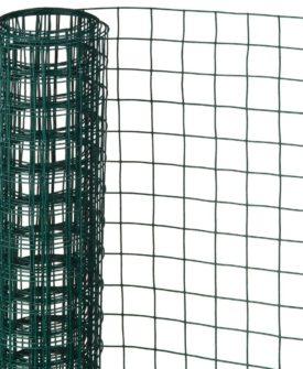 Nature firkantet trådnet 1 x 5 m 13 mm plastbelagt stål grøn