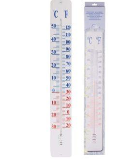 Esschert Design termometer TH9 på vægplade, 90 cm