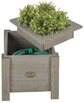 Esschert Design 2-i-1 plantekasse med opbevaringsrum til slange