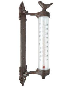 Esschert Design vægtermometer brun støbejern BR20