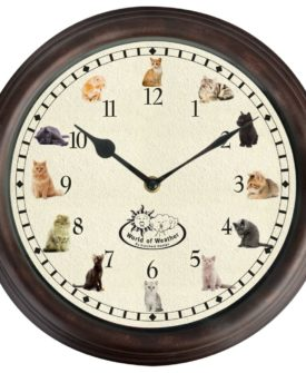 Esschert Design ur med kattelyde