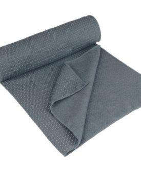 Avento yogahåndklæde Aura skridsikkert grå