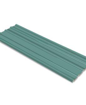 vidaXL tagplader 12 stk. galvaniseret stål grøn