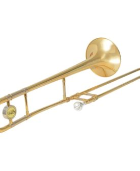 vidaXL trombone gul messing med guldlakering Bb