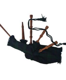 vidaXL Scottish Great Highland sækkepibe til børn grøn Black Watch skotskternet