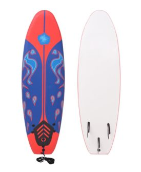 vidaXL surfbræt blå og rød 170 cm