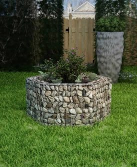 vidaXL sekskantet gabion-plantekasse 100 x 90 x 50 cm