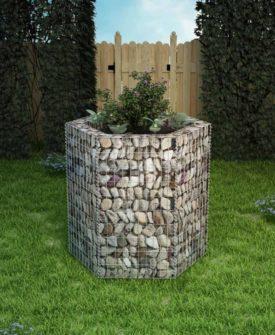 vidaXL sekskantet gabion-plantekasse 100 x 90 x 100 cm