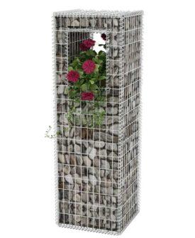 vidaXL gabionkurv/plantekasse stål 50 x 50 x 160 cm