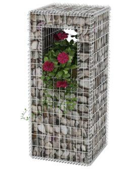 vidaXL gabionkurv/plantekasse stål 50 x 50 x 120 cm