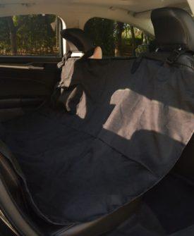 vidaXL Bagsædebetræk til kæledyr 148×142 cm sort