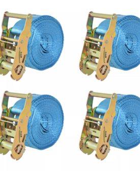vidaXL surringsbånd 4 stk. 2 ton 6 m x 38 mm blå