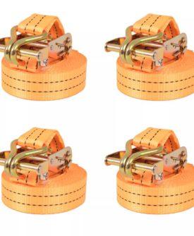 vidaXL surringsbånd 4 stk.1 ton 6 m x 38 mm orange