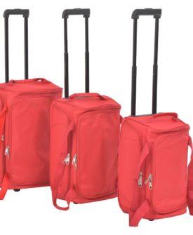 vidaXL baggagesæt i 3 dele rød