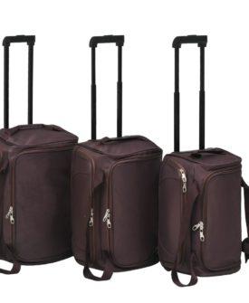 vidaXL baggagesæt i 3 dele kaffefarvet