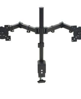 vidaXL bordbeslag til skærme 32″ dobbelt arme højdejusterbar
