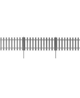 vidaXL stakit med stolper 3 stk. WPC 600 x 80 cm