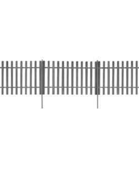 vidaXL stakit med stolper 3 stk. WPC 600 x 100 cm