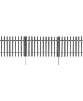 vidaXL stakit med stolper 3 stk. WPC 600 x 120 cm