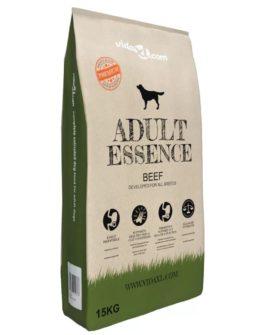 vidaXL luksustørfoder til hunde Adult Essence Beef 15 kg