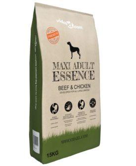 vidaXL luksustørfoder til hunde Maxi Adult Essence Beef & Chicken 15 kg
