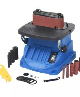 vidaXL oscillerende spindel- og båndpudser 450 W blå