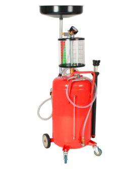 vidaXL spildolieopsamler 70 l stål rød
