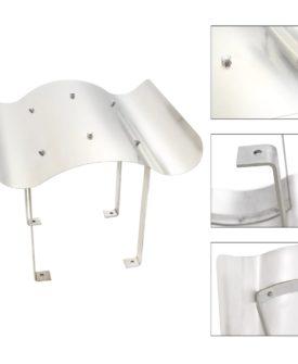 vidaXL skorstenshætte i rustfrit stål sølvfarvet