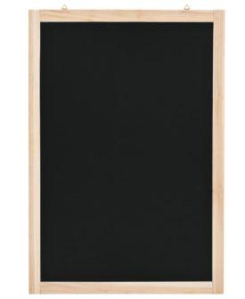 vidaXL vægmonteret tavle cedertræ 40 x 60 cm