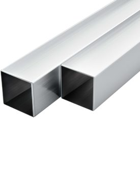 vidaXL aluminiumsrør 6 stk. firkantet bokssektion 2 m 30 x 30 x 2 mm