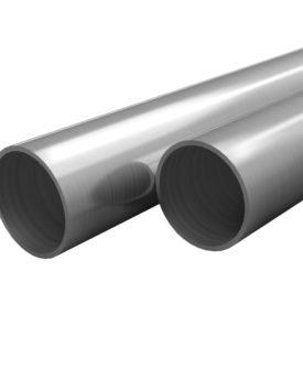 vidaXL rustfrie stålrør 2 stk. rund V2A 2 m Ø 21 x 1,9 mm