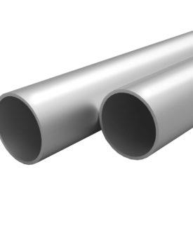 vidaXL aluminiumsrør 4 stk. rund 2 m Ø 30 x 2 mm