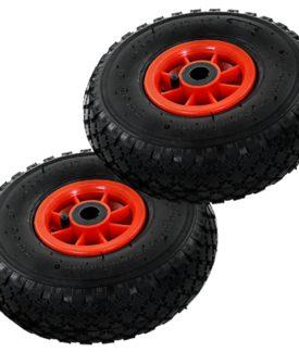 vidaXL sækkevognshjul 2 stk gummi 3.00-4 (260 x 85)