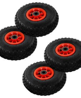 vidaXL sækkevognshjul 4 stk gummi 3.00-4 (260 x 85)