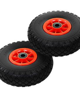 vidaXL sækkevognshjul 2 stk. massivt PU 3.00-4 (260 x 85)