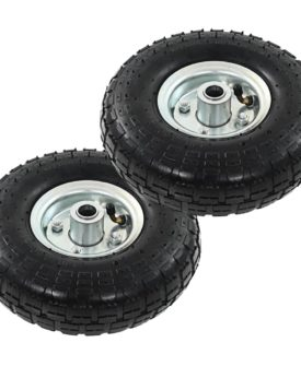 vidaXL sækkevognshjul 2 stk gummi 4.10/3.50-4 (260 x 83)