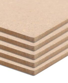 vidaXL MDF-plader 5 stk. rektangulær 120 x 60 cm 2,5 mm