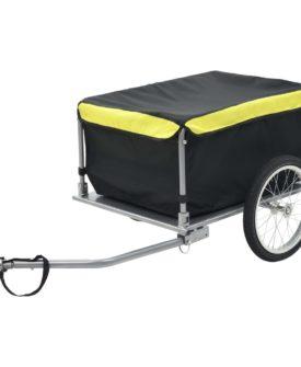 vidaXL cykelanhænger sort og gul 65 kg