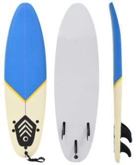 vidaXL surfbræt 170 cm blå og cremefarvet