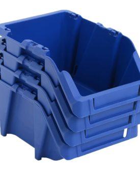 vidaXL stabelbare opbevaringskasser 250 stk. 103 x 165 x 76 mm blå