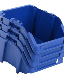 vidaXL stabelbare opbevaringskasser 150 stk. 125 x 195 x 90 mm blå