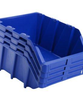 vidaXL stabelbare opbevaringskasser 20 stk. 265 x 420 x 178 mm blå