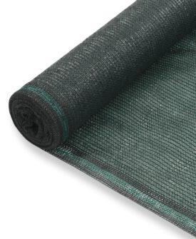 vidaXL tennisskærm HDPE 2 x 25 m grøn