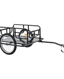 vidaXL cykelanhænger 130 x 73 x 48,5 cm sort stål